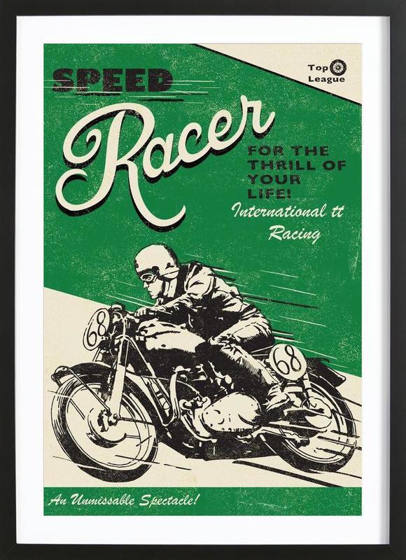 Speed Racer -Bild mit Holzrahmen