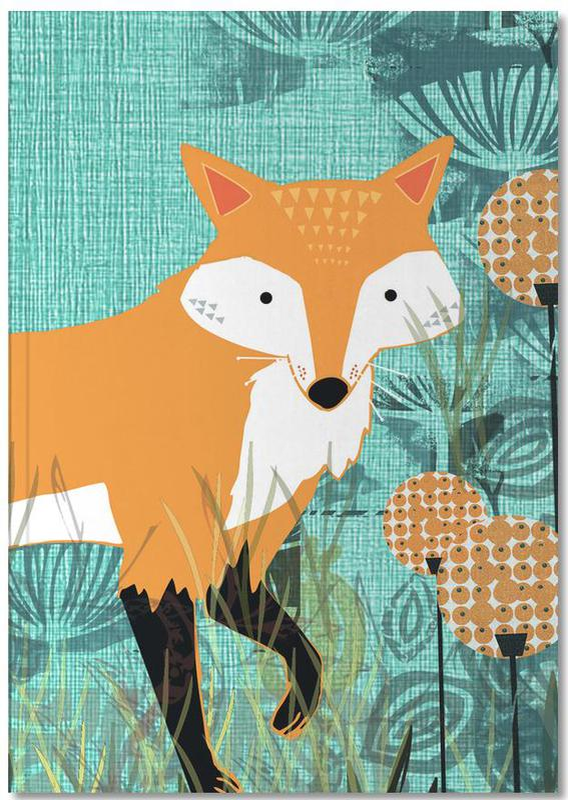 Renards, Art pour enfants, Tourquiose Fox Notebook