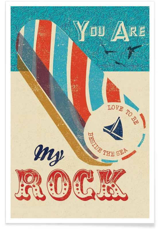 Retro, Anniversaries & Love, Love Quotes, You are my Rock Poster