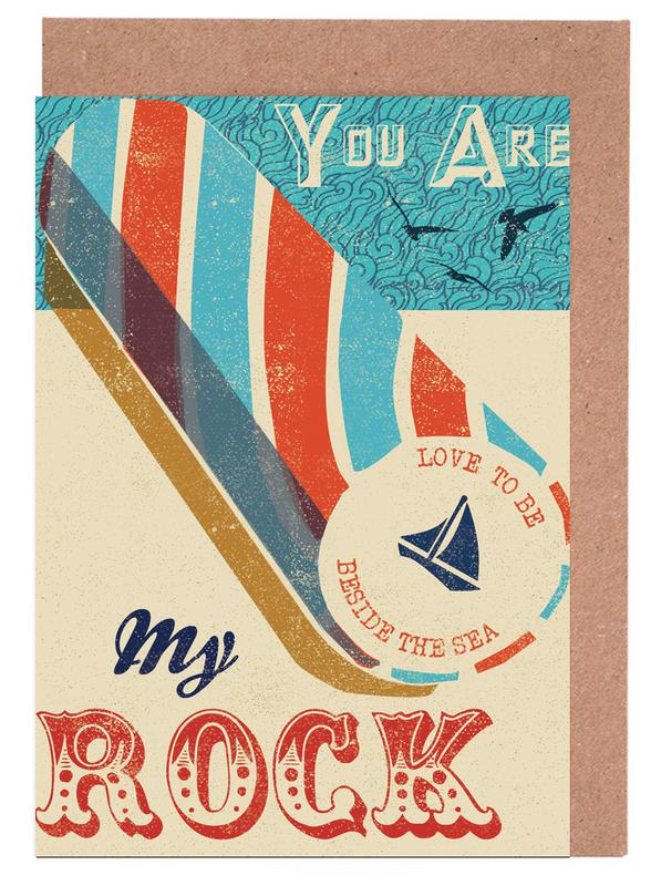 You are my Rock Greeting Card Set