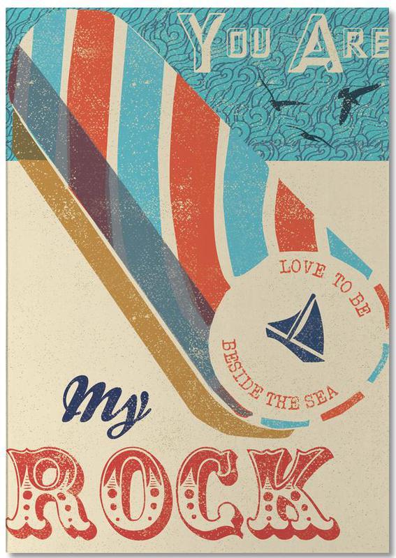 Anniversaires de mariage et amour, Citations d'amour, Rétro, You are my Rock bloc-notes
