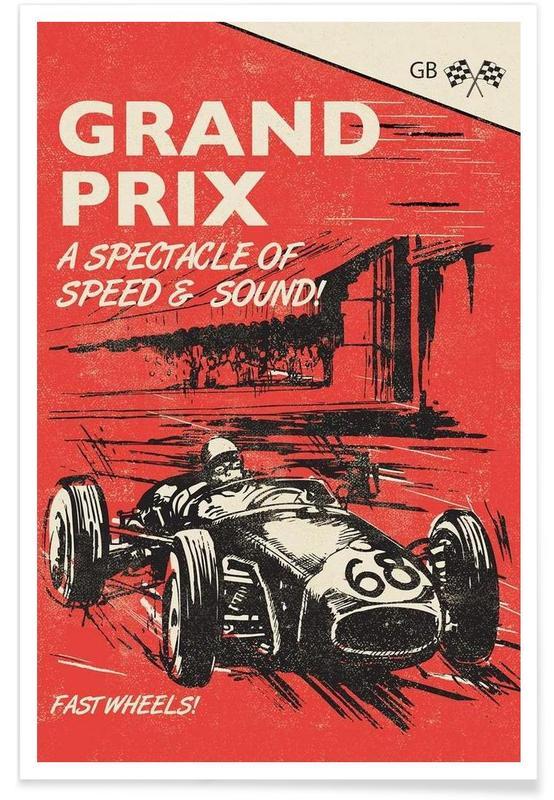 Autos, Grand Prix -Poster