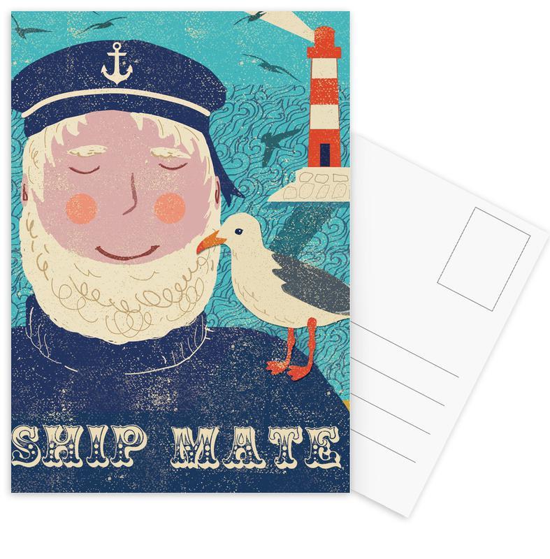 Kunst voor kinderen, Retro, Ship Mate ansichtkaartenset