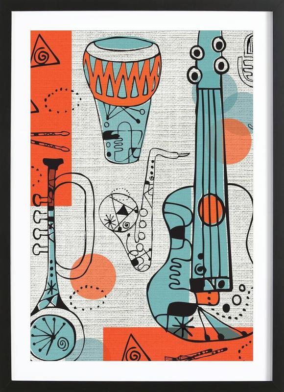 Jazz -Bild mit Holzrahmen