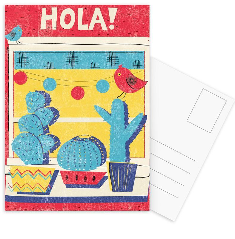 Cactussen, Retro, Hola! ansichtkaartenset