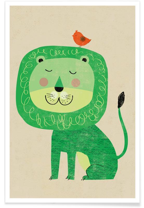 Leeuwen, Kunst voor kinderen, Lion poster
