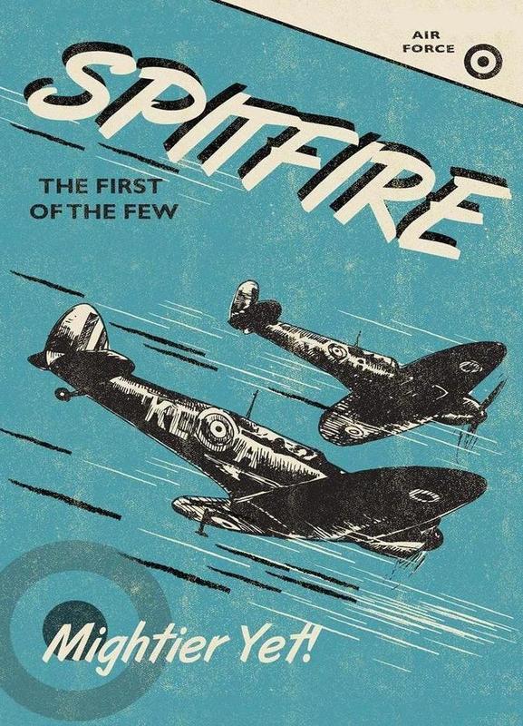 Spitfire -Leinwandbild