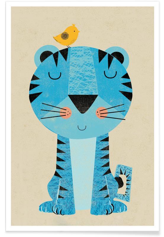 Børneværelse & kunst for børn, Tigre, Tiger Plakat