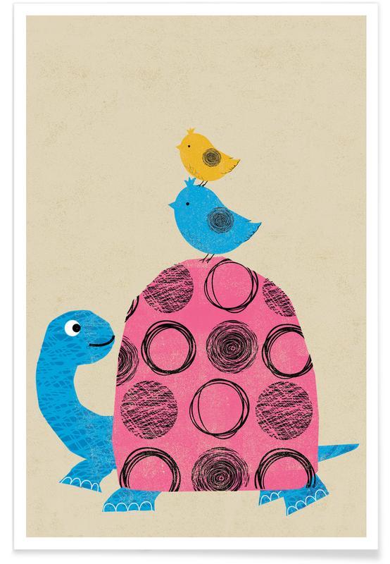 Kinderzimmer & Kunst für Kinder, Schildkröten, Tortoise -Poster