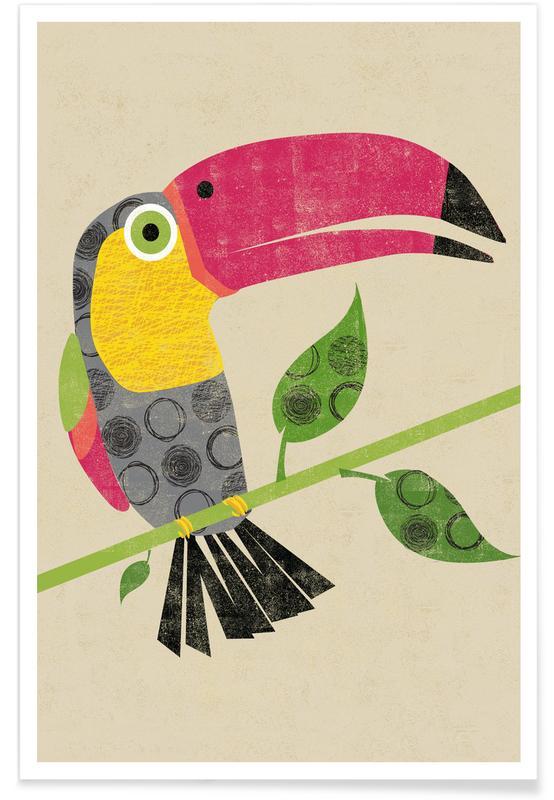 Kunst voor kinderen, Toekans, Toucan poster