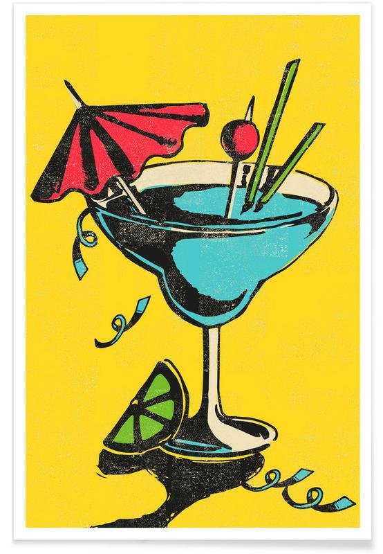 Cocktails, Rétro, Cocktail affiche