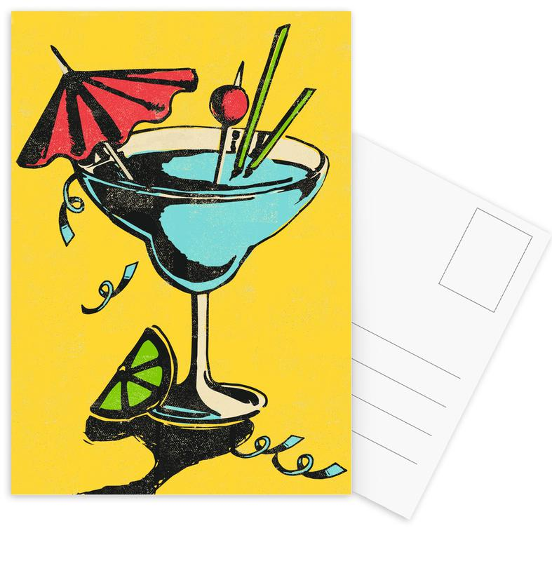 Cocktails, Retro, Cocktail Postcard Set