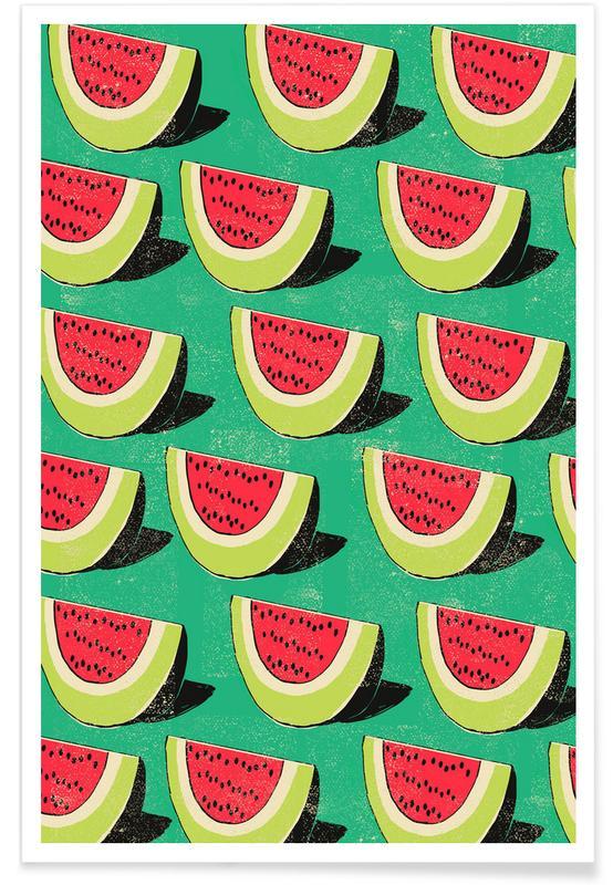 Wassermelonen, Retro, Melons -Poster