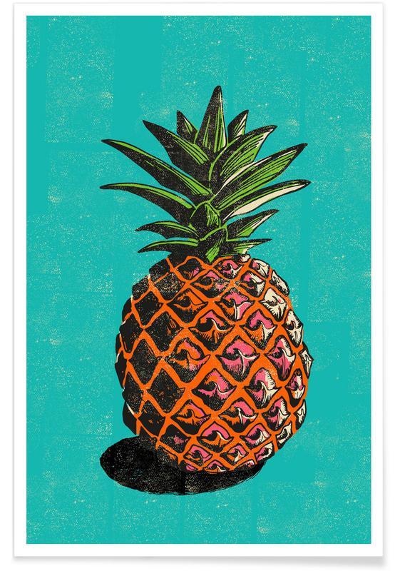 Retro, Ananas, Pineapple -Poster