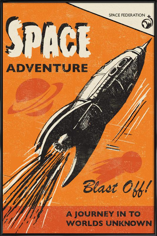 Space Adventure Framed Poster
