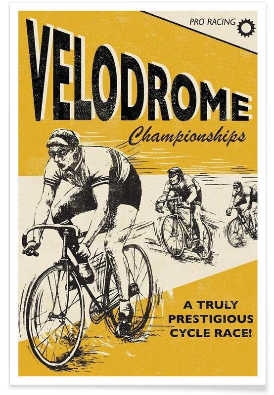 Wielersport, Vintage, Velodrome poster