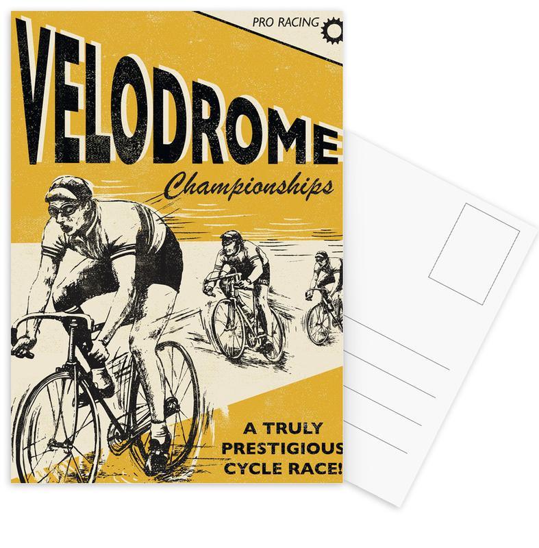 Cycling, Vintage, Velodrome Postcard Set