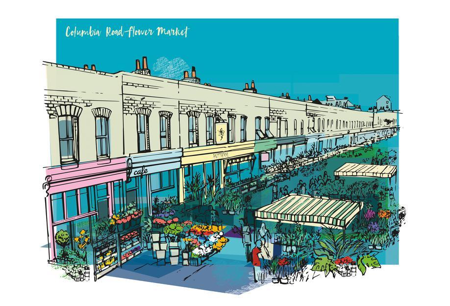 Columbia Road Flower Market -Acrylglasbild