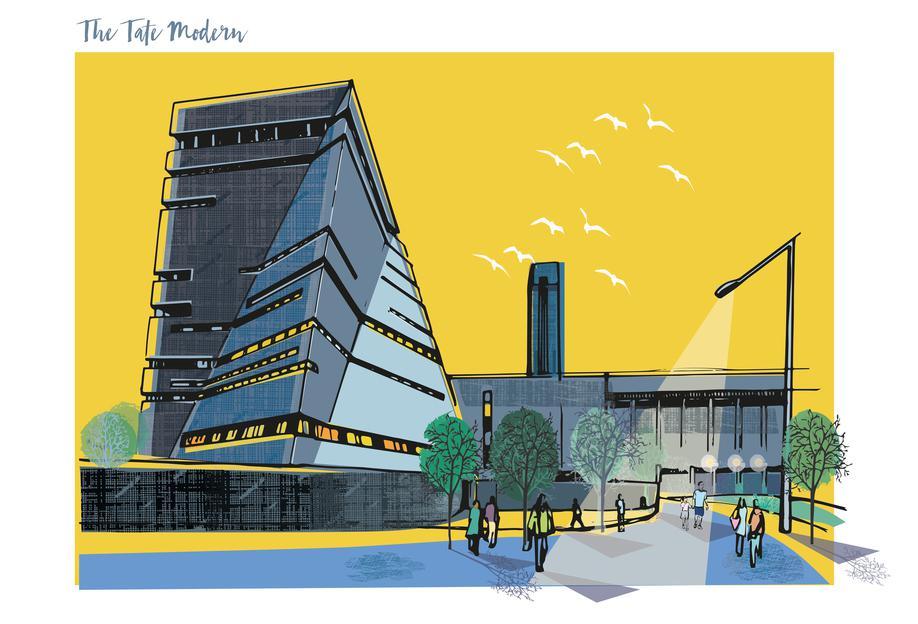 Tate Modern -Acrylglasbild