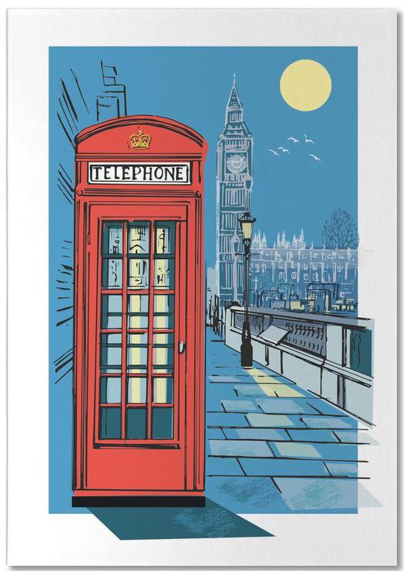 London, Telephone Box Notepad