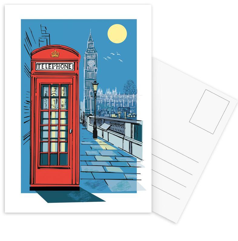London, Telephone Box -Postkartenset