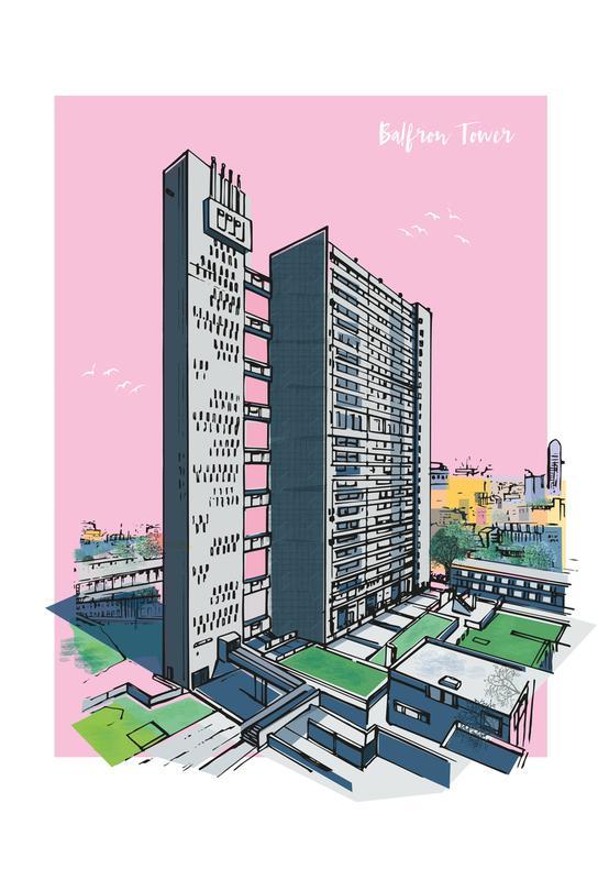 Balfron Tower -Acrylglasbild