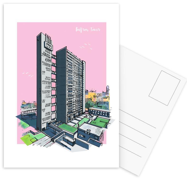 London, Sights & Landmarks, Balfron Tower Postcard Set