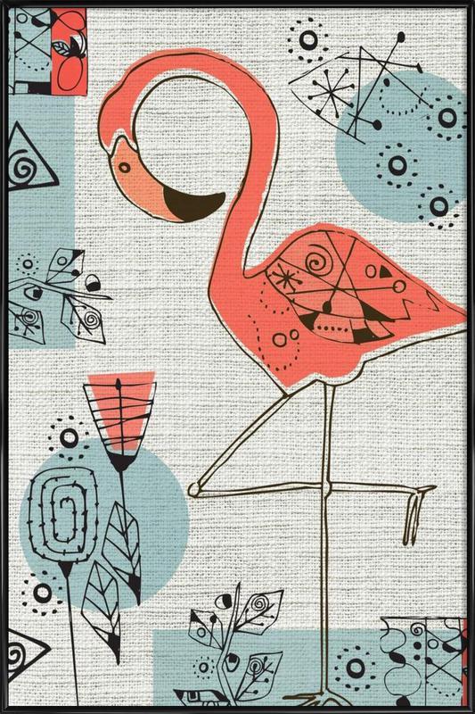 Flamingo 2 Framed Poster