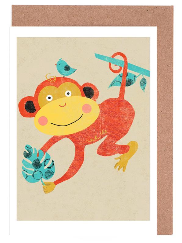 Monkey -Grußkarten-Set