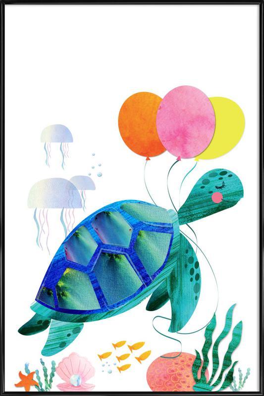 Turtle affiche encadrée