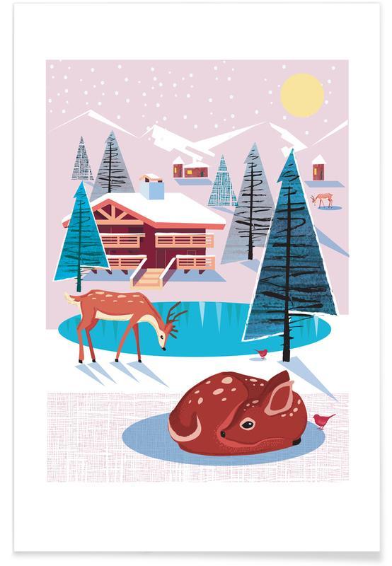 Nursery & Art for Kids, Christmas, Deer, Deer Poster