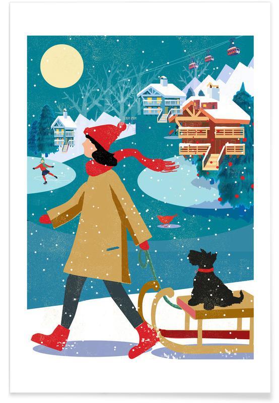 Weihnachten, Winter Walk -Poster