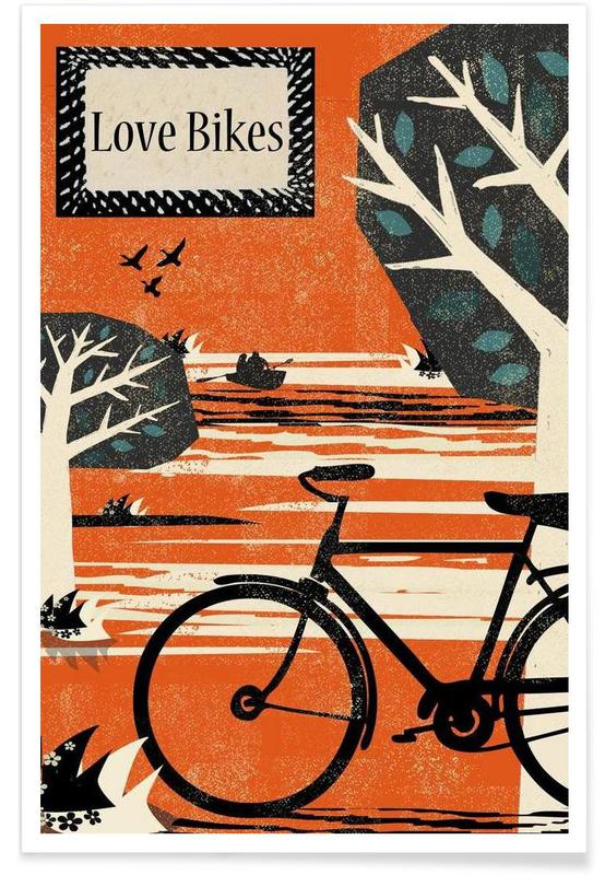 Bicycles, Love Bikes Poster