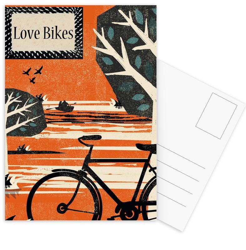 Bicycles, Love Bikes Postcard Set