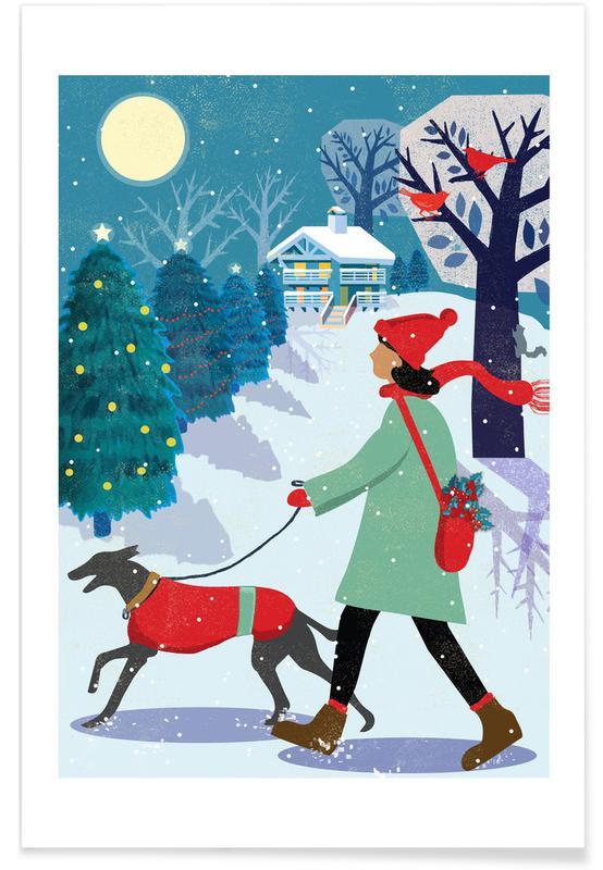Kerst, Whippet Walk poster