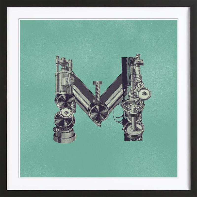 Steampunk Alphabet Letter M Framed Print