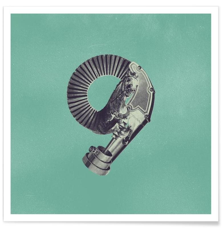 Steampunk Alphabet Number 9 Poster