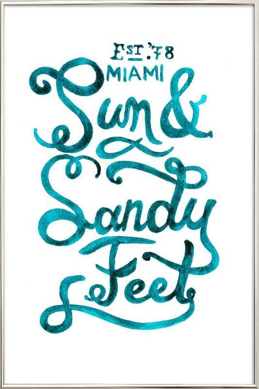 Sandyfeet Poster in Aluminium Frame