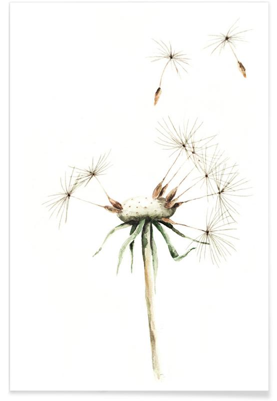 Poster Dandelion Chart Wrapping Paper Sheet