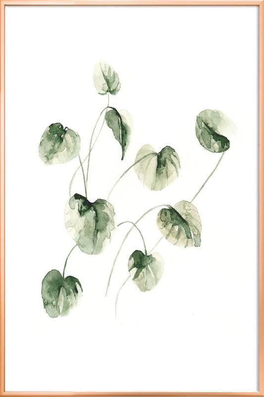 Drop Leaves Poster in Aluminium Frame