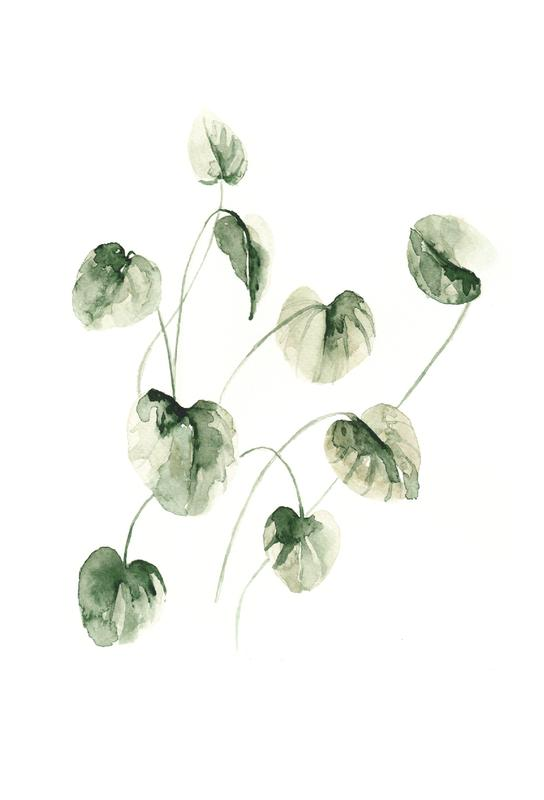 Drop Leaves Acrylic Print
