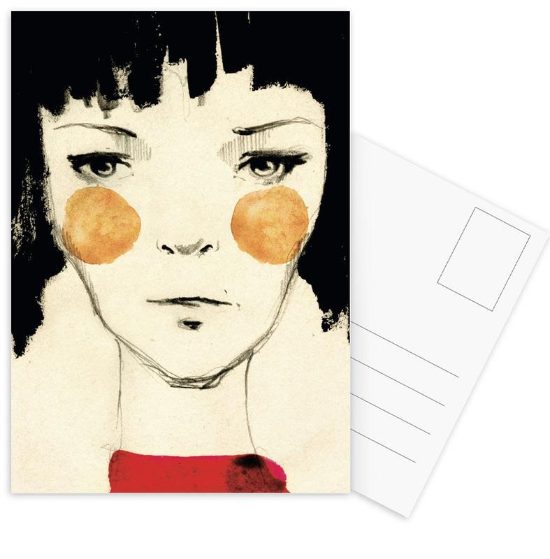 Mode-illustratie, Citygirl ansichtkaartenset