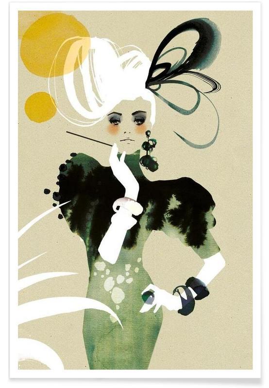 Fashion Illustrations, Flapper Poster