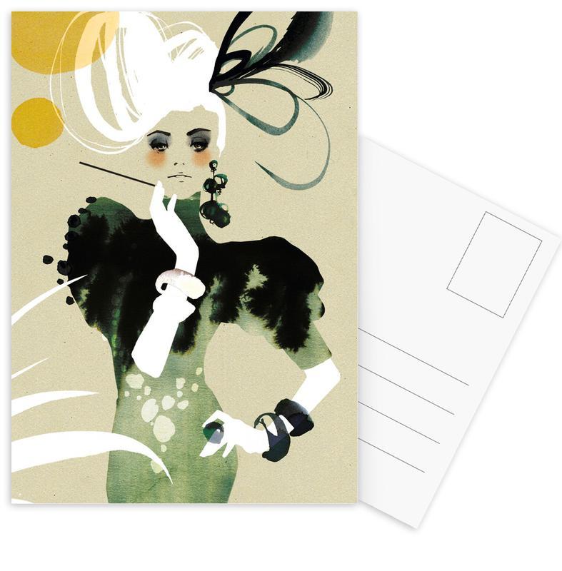 Flapper Postcard Set