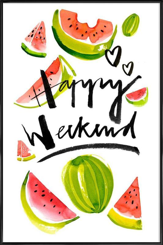 Happy Weekend Framed Poster