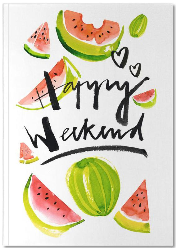 Watermelons, Happy Weekend Notebook