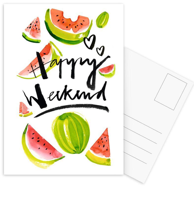 Happy Weekend Postcard Set