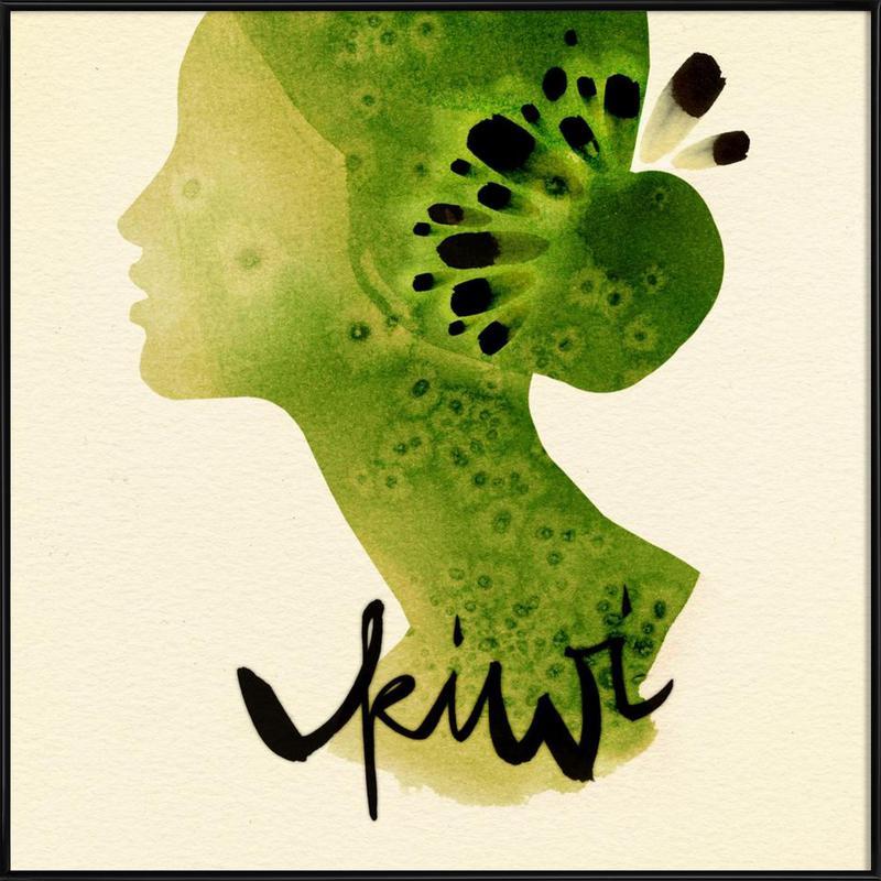 Kiwi -Bild mit Kunststoffrahmen