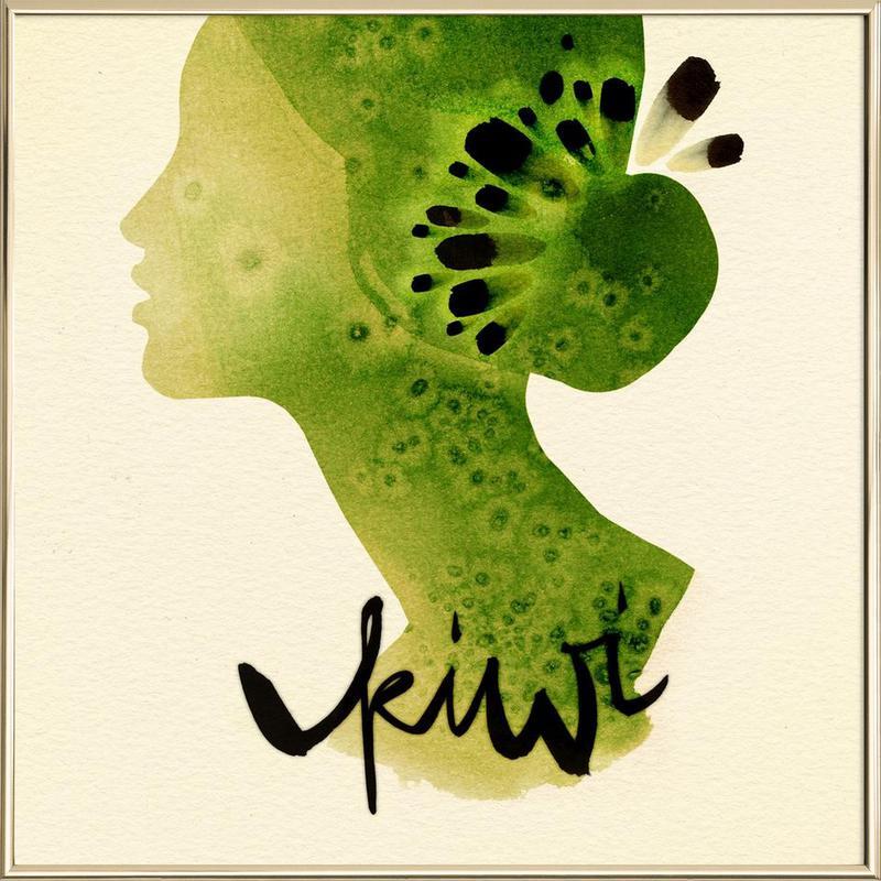 Kiwi -Poster im Alurahmen
