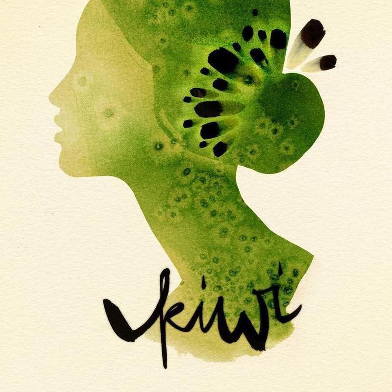 Kiwi canvas doek